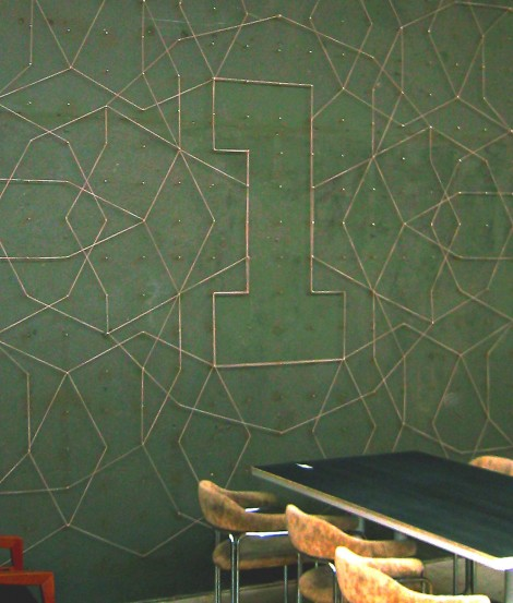 Graphic wall art, tangible wallpaper